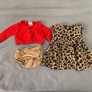 Newborn Carter's Leopard Print Dress